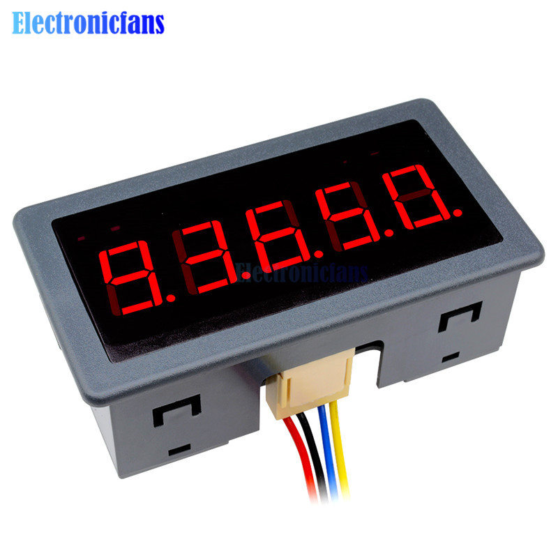 DC 12-24V 0.56 5 Digit Digital Red LED Panel Display Reversible Counter Meter Count Timer Timing Three Function With CablesDC 12-24V 0.56 5 Digit Digital Red LED Panel Display Reversible Counter Meter Count Timer Timing Three Function With Cables