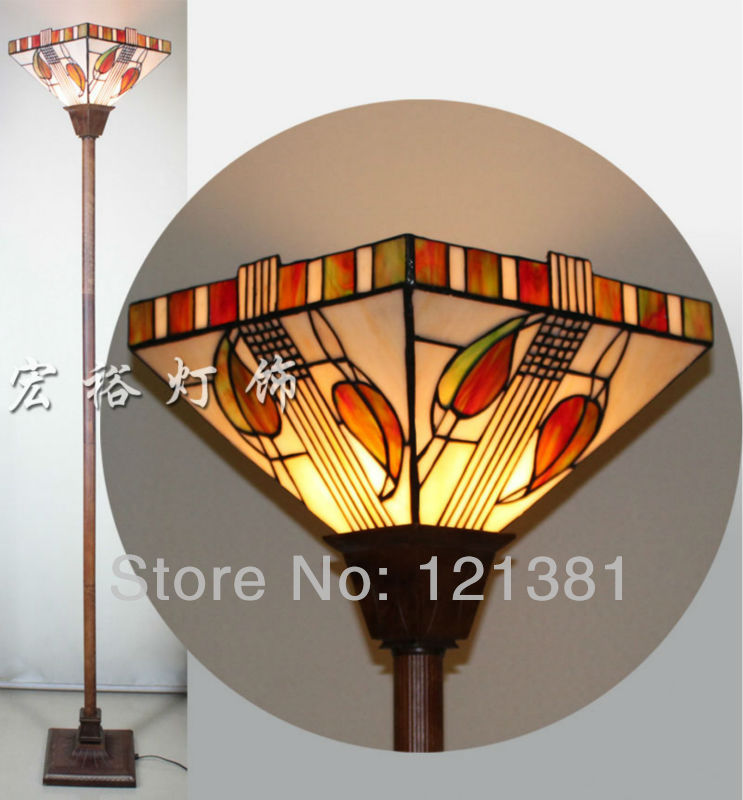 Mission style tiffany torchiere lamp floor lamp uplight stained mission style tiffany torchiere lamp floor lamp uplight stained glass lampshade handcrafted indoor lighting standing lights in floor lamps from lights aloadofball Image collections