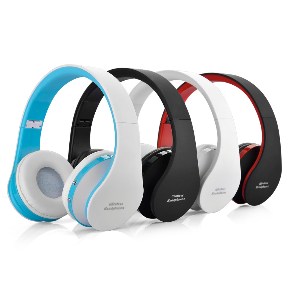 Foldable Wireless Bluetooth Headphones Built in Microphone with 3.5mm Audio port for iPhone Android Smartphone
