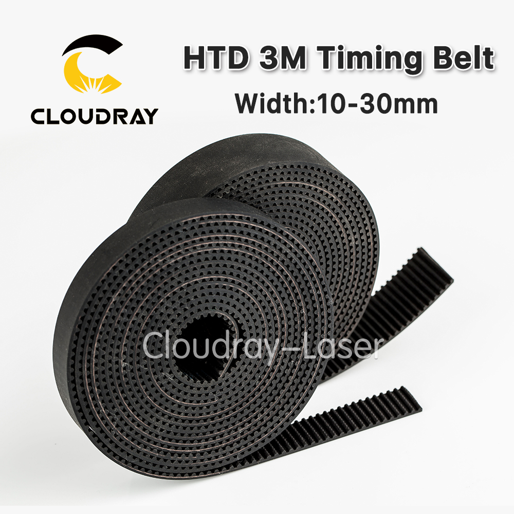 High Quality HTD3M PU Open Belt 3M Timing Belt 3M-15 Polyurethane for CO2 Laser Engraving Cutting Machine green orange transparent pu round belt polyurethane drive belt smooth and rough surface for sale