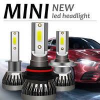 2Pcs Car Headlight H7 H1 LED Bulbs H4 9003 H8 H11 Car Headlamps Kit 9005 9006 120W Mini Lamp 12000LM 6000K Fog Light LED Lamp
