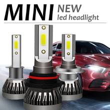 2Pcs Car Headlight H7 H1 LED Bulbs H4 9003 H8 H11 Headlamps Kit 9005 9006 120W Mini Lamp 12000LM 6000K Fog Light