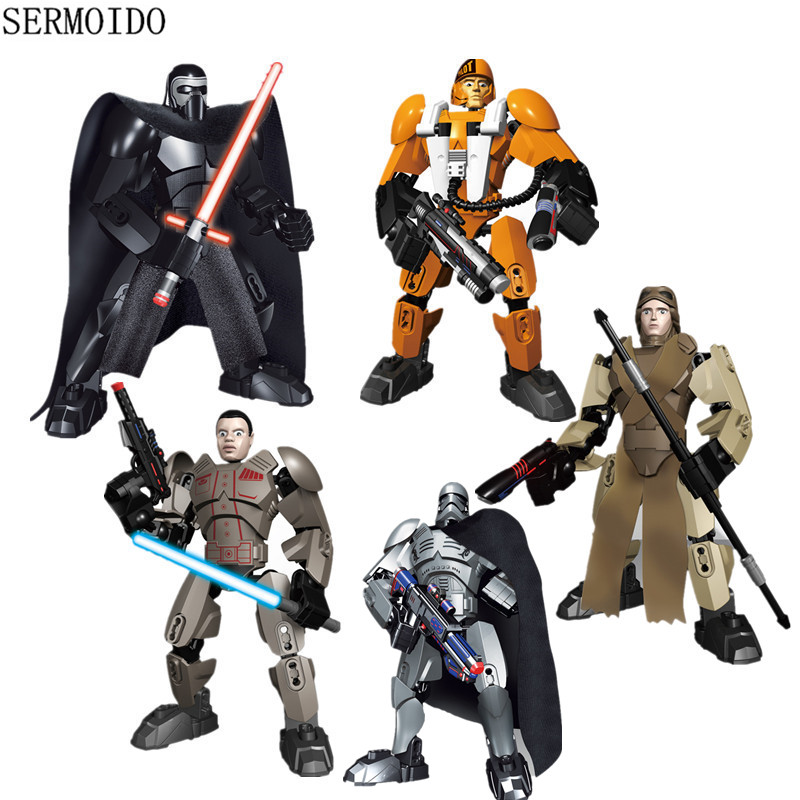LEPIN Star Wars blocks Darth Vader White Storm Trooper General Grievous Figure toys building blocks christmas Rogue One B89 gonlei figures rogue one k 2so death trooper sergeant jyn erso figure toys building blocks christmas gifts lepin