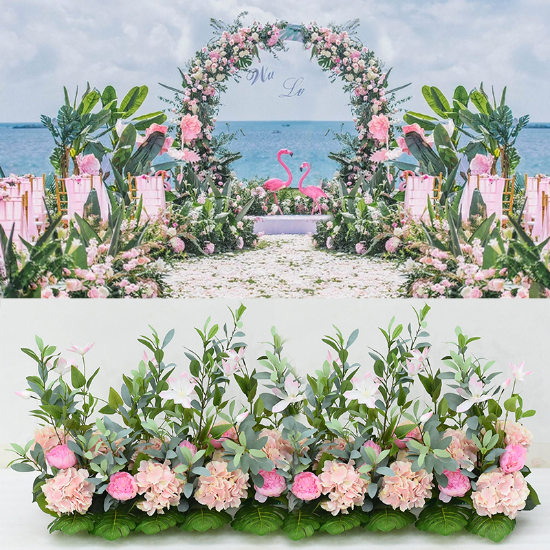 Wedding decoration arch Flower Wall Background farmhouse Home decor Silk flore arrangement Artificial flowers party decor wall