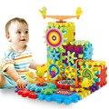 Творческий Передач игрушки Электронные здание DIY 3D Головоломка строительство игрушки обучения Образование игрушки brinquedos 81 шт.