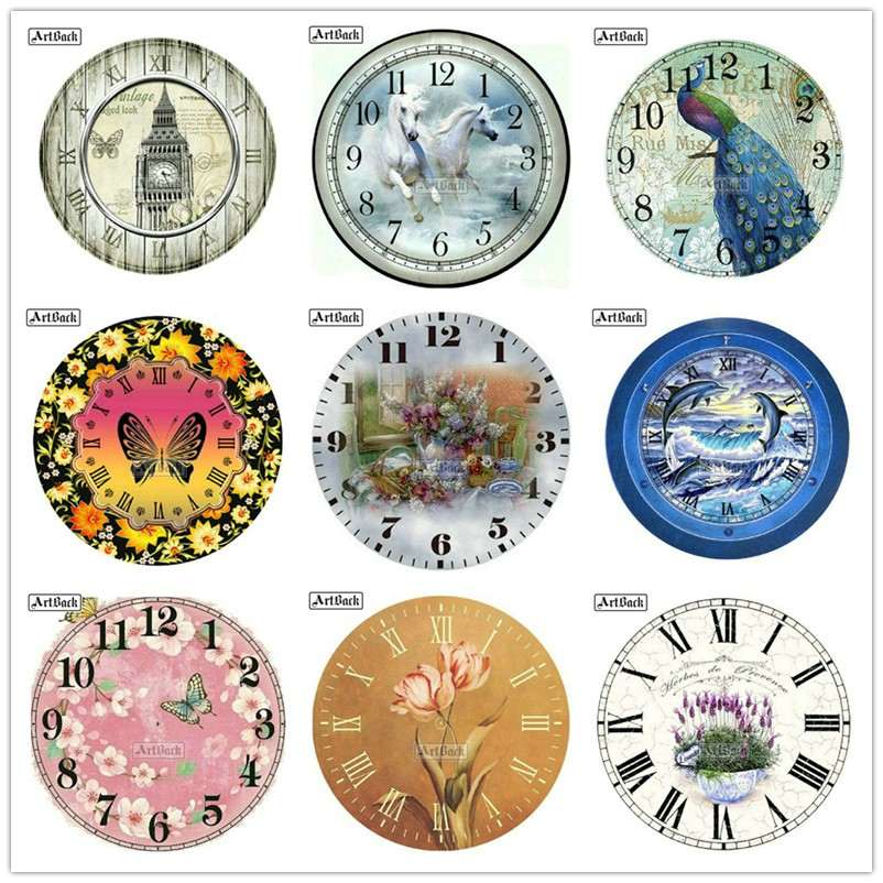 5d diamond painting clock multi-style animal flower full square diamond mosaic set full round diamond embroidery wall clock
