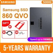 """SAMSUNG SSD 860 QVO 1 ТБ 2 ТБ 4 ТБ Внутренний твердотельный накопитель V-NAND SSD SATA3 6 ГБ/сек. 2,"""" SSD для ноутбука, настольного компьютера, ПК"""
