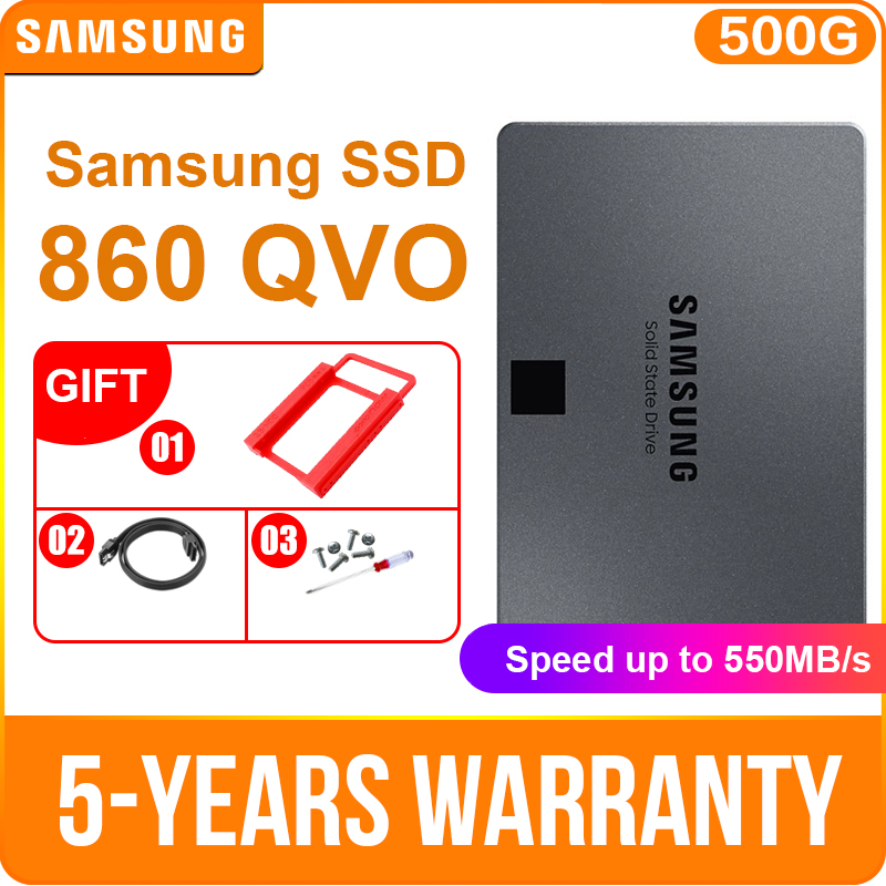 Samsung ssd 860 qvo 1 tb 2 tb 4 unidade de estado sólido interno V-NAND ssd sata3 6 gb/s 2.5