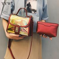 2018 Fashion Designer Transparent Handbag Shoulder Bag Clear Jelly Evening Purse Women Clutch Pvc Plastic Messenger Handbag New