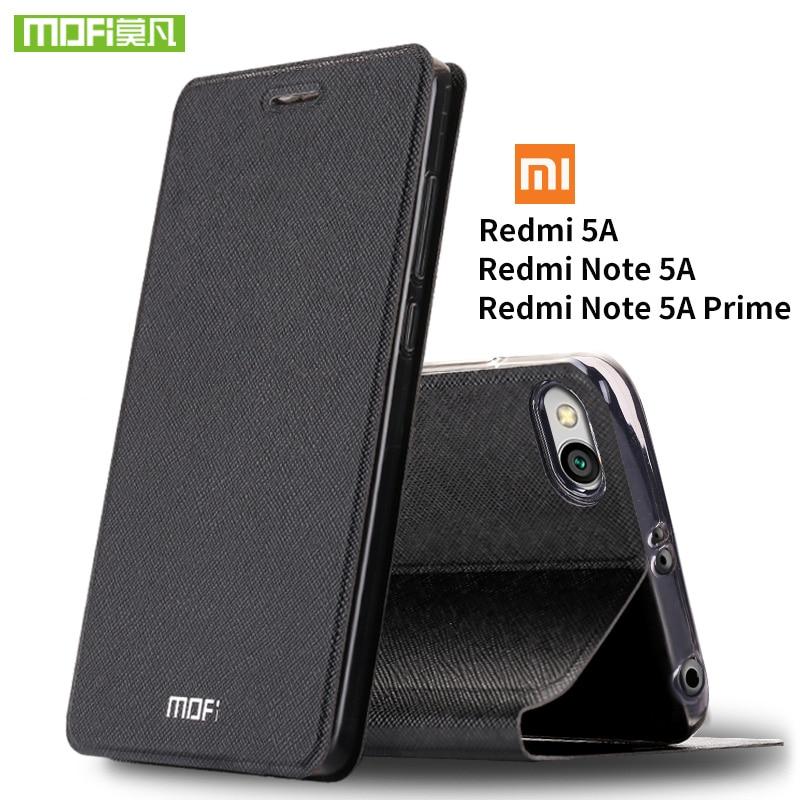 Para Xiaomi Redmi Nota caso Para caso Xiaomi Redmi 5A 5A capa de silicone capa de couro flip original mofi Para Xiaomi Redmi Nota 5A caso