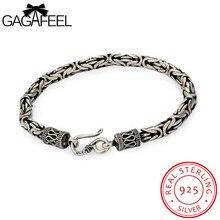 Gagafeel натуральная 100% реального чистый 925 стерлингового серебра браслет людей голова дракона Старинные тайские серебряные мужские Fine Jewelry HYB4