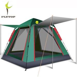 Автоматическая большая палатка для кемпинга на 4 человек, водонепроницаемый складной пляжный вечерние наружный садовый тент для пикника, к...