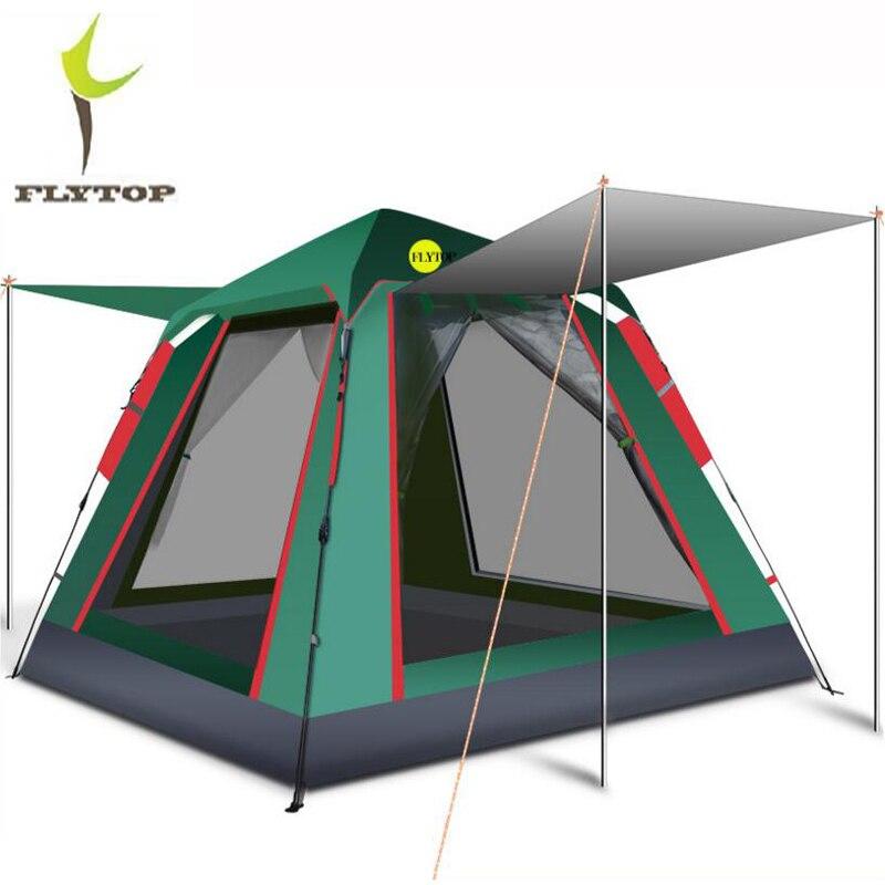 Grande tente de Camping automatique 4 personnes imperméable à l'eau pliante plage partie extérieure jardin tente pique-nique Camping famille Gazebo tente