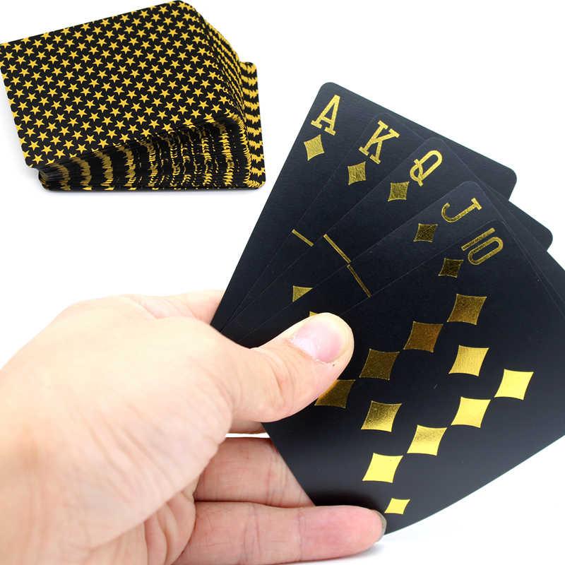 55 шт./колода покер карты ПВХ пластиковые игральные карты водостойкие Мороз pokerstars настольные игры классические Волшебные трюки инструмент игра в покер