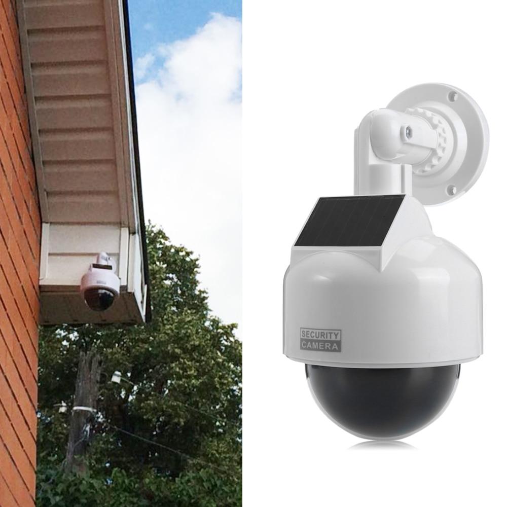 Solar Energy Waterproof Outdoor Indoor Fake Security Camera Night Realistic Camera CCTV Surveillance Dummy Camera LED Light