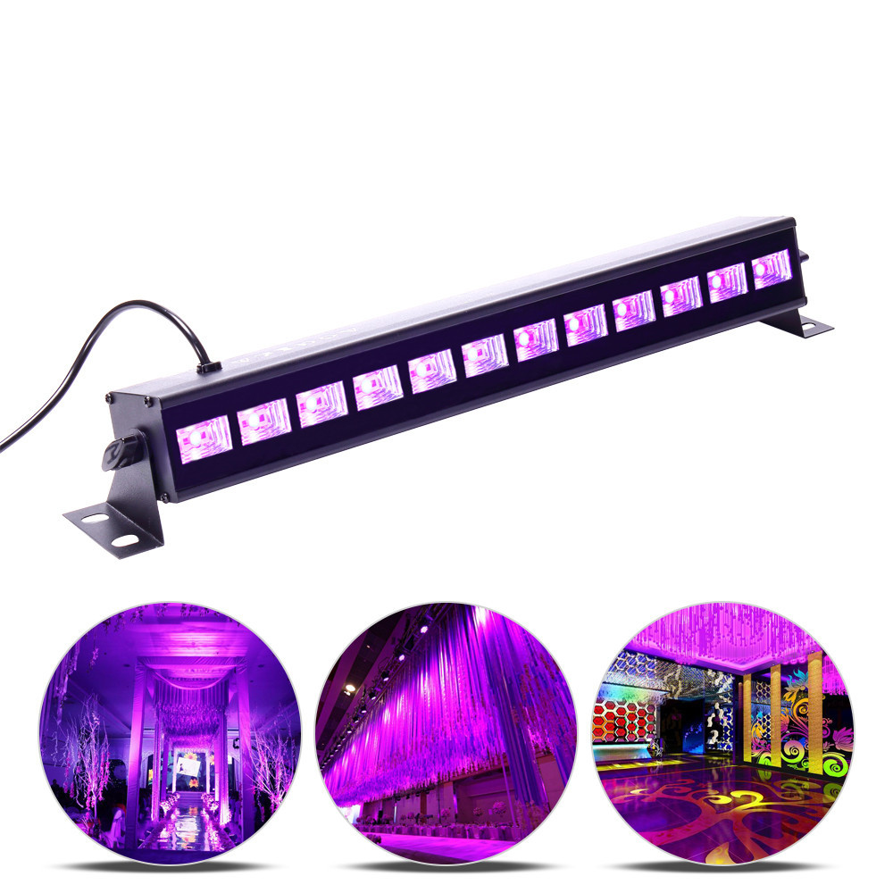 New 18w 27w 36w 54w 72w 110v 220v Dj Led Uv Stage Light Bar Black Party Club Disco Light For Christmas Indoor Stage Effect Light Cheapest Price From Our Site
