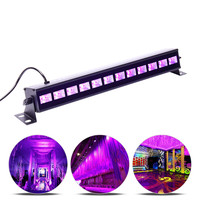 New 18W 27W 36W 54W 72W 110V 220V DJ LED UV Stage Light Bar Black Party Club Disco Light For Christmas Indoor Stage Effect Light