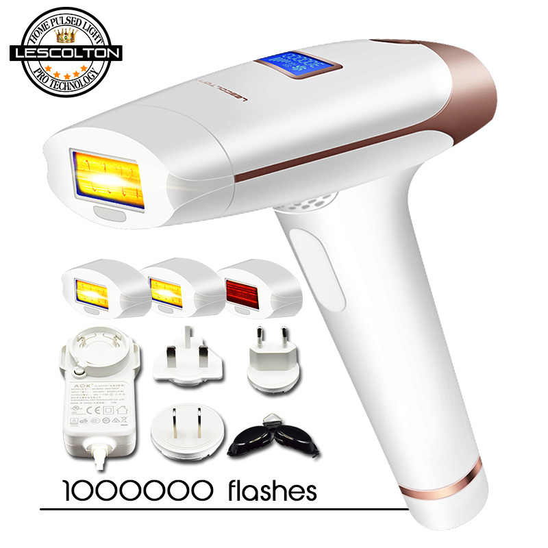 Asli Lescolton 3in1 IPL Epilator Hair Removal LCD Display Mesin Laser Permanen Bikini Pemangkas Electric Depilador Laser