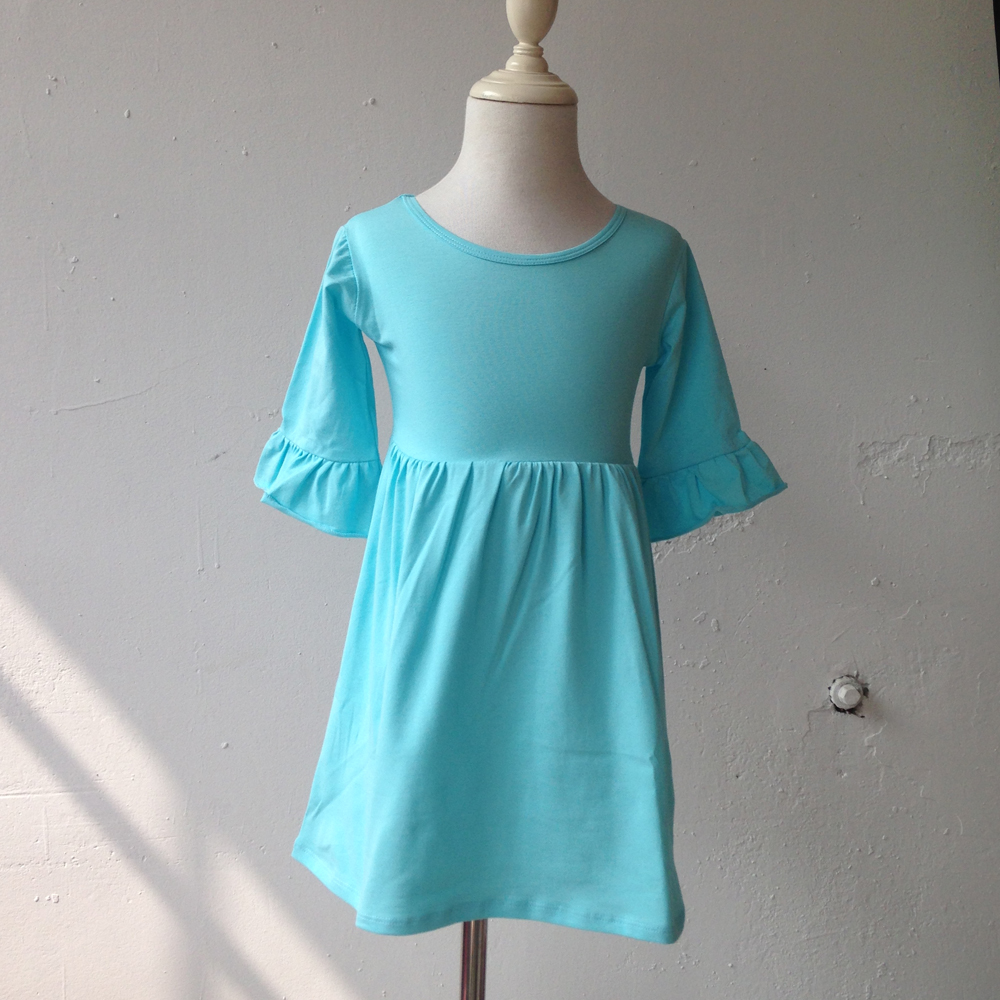 Summer boutique hot knit cotton 3 4 sleeve dresses tops for Boutique tops