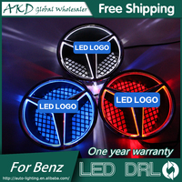 AKD Car Styling For Mercedes Benz C Class W204 LED Star Light DRL FRONT GRILLE LED