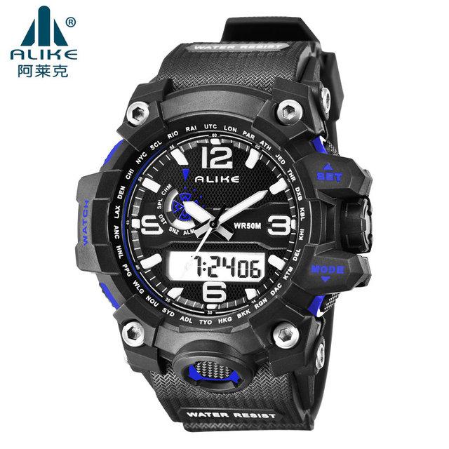 Luxury G Style Shock ALIKE watch Men LED 50M Swimming Digital Analog Quartz Wristwatch military sports watches Relogio Masculino
