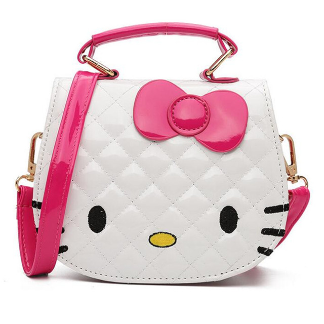 Children Hello Kitty Handbag for Women Cartoon Cat PU Leather Mini Should Bag  Kids Girls Messenger Bags Ladies Bolsa de Feminina 4e02beff0b40c