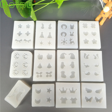Mini Crown Wing Star Shaped Fondant Silicone Mold DIY Hand Craft Ornaments Earrings Decoration Tools Epoxy Resin Jewelry Molds