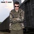 Brand Winter Men Jackets Warm Hooded Camouflage Jackets Men Casual Jackets Coats Thick Velvet Military Jacket Hip Hop Ms-6073B