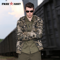 Free Army 2015 Camouflage Jackets Men Casual Jackets Outdoor Coats MS 6073B