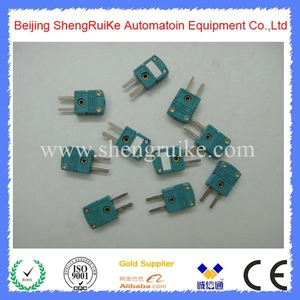 Image 4 - Mini Thermocouple Connector K  OMEGA type Green Color Flat pin Male and Female