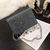 Drop shipping Handbag For Women Sparkling Diamond Ladies Evening Bags Chains Formal Clutches Purse Mini Shoulder Bag