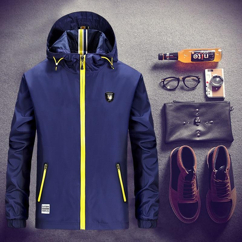 겨울 방풍 재킷 남자 방수 패션 재킷 Manteau Homme Ropa 캐주얼 Hombre 얇은 폭격기 재킷 남자 윈드