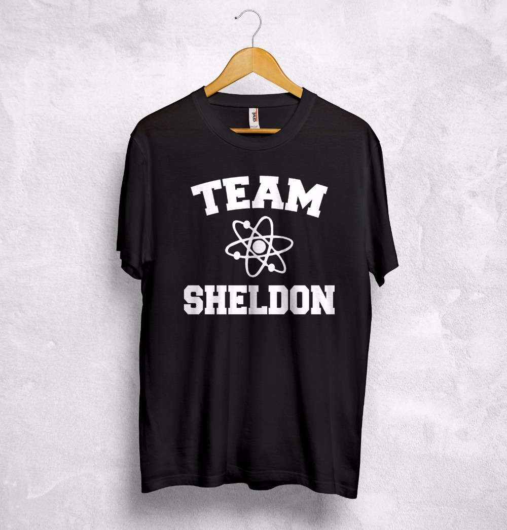 Team Sheldon Cooper T Shirt Top Big Bang Theory Chemistry Penny Leonard Bazinga T-Shirt More Size and Colors-A949