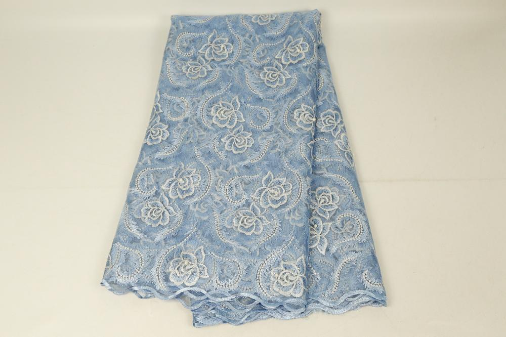 African Lace Florals Pattern 130 Cm Width Fabric For Apparel And Fashion Sold By The 5Yard