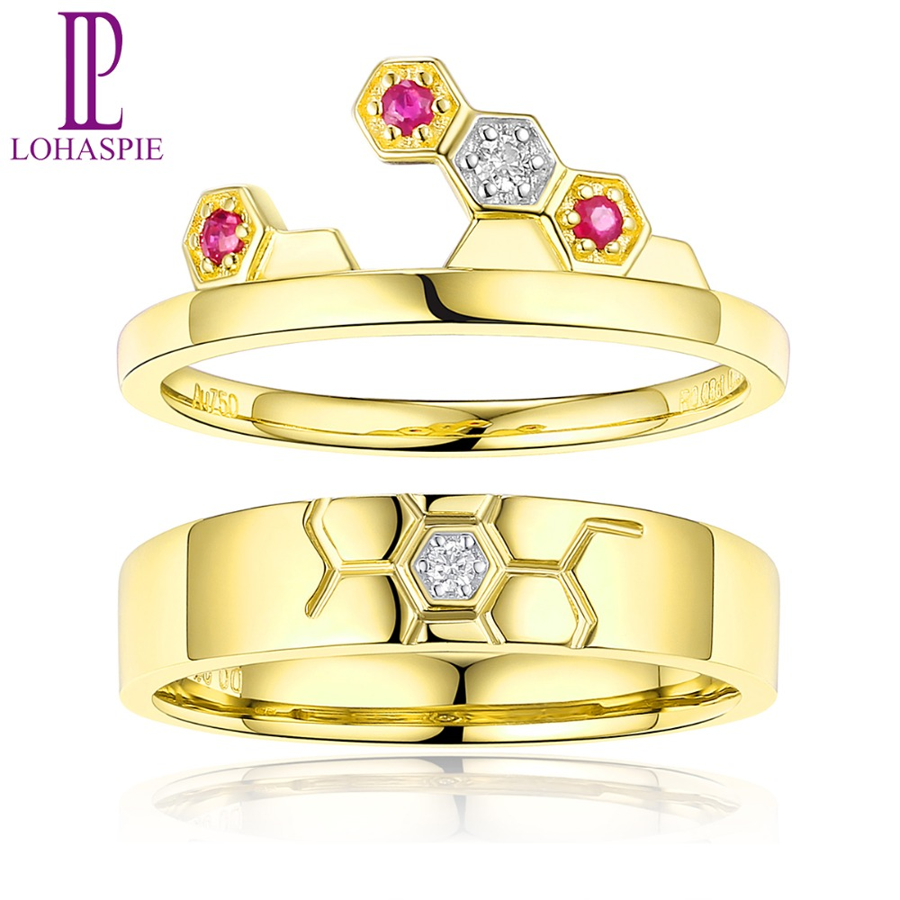 Ruby Wedding Gifts For Men: LP Football Lover's Ring Fine Jewelry For Men Women 18K