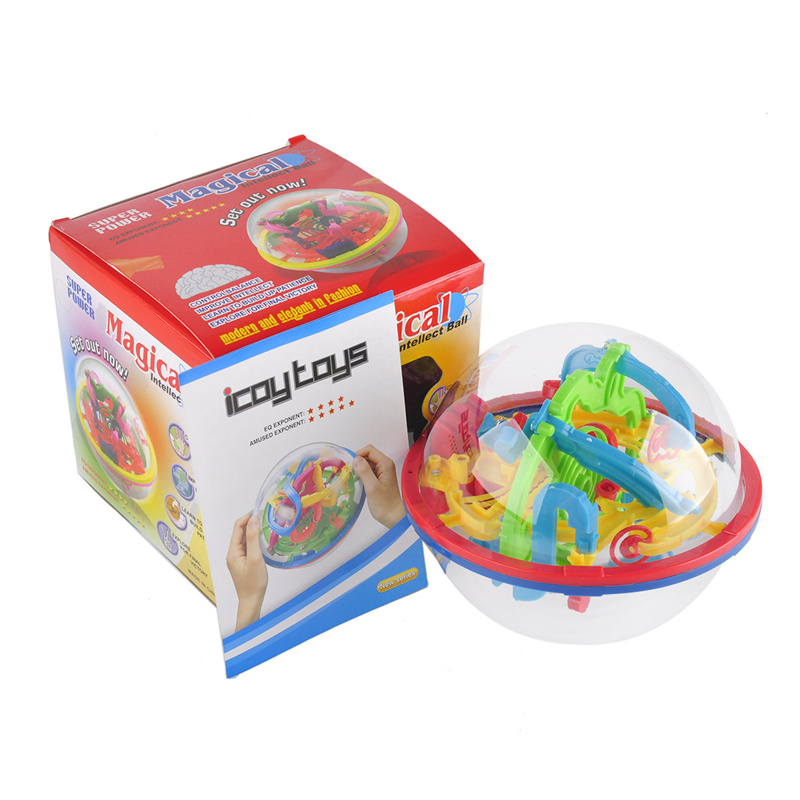 100 Steps 3D puzzle Labyrinth Magic Rolling Globe Ball children 3d puzzle Intellect Ball toys Balance Maze Game Puzzle Education