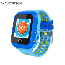 ФОТО gps+lbs children smart watch waterproof sim smart watch baby with voice message sos call df27 safe smart watch for children