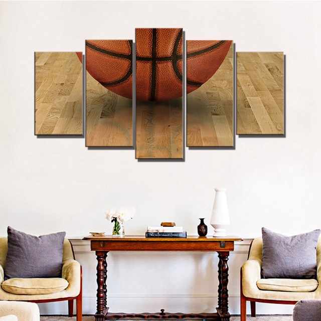 5 Pieces Sport Basketball Poster Art Print Picture For Kids Bedroom Wall  Decor Canvas Painting Home