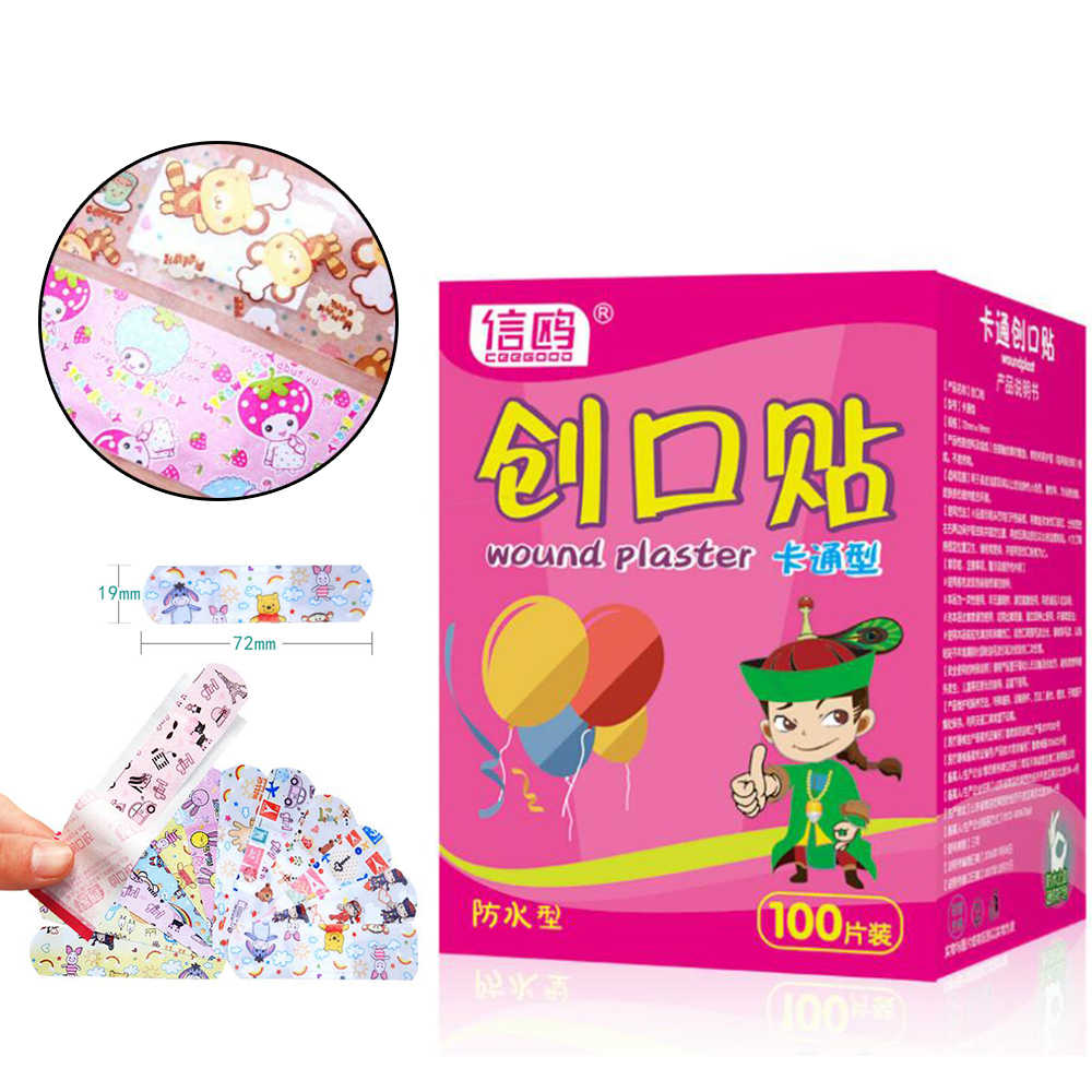 50Pcs Waterproof Wound Patch Bandage Cartoon Cute Band-Aid Hemostatic Adhesive Medical Band-aid (without retail package) D133