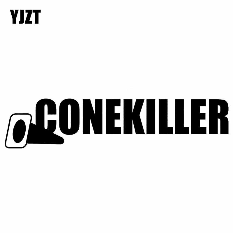 YJZT 14CM*3.2CM CONEKILLER Racing Turbo Boost Decal Personality Vinyl Car Sticker Black/Silver C10-00911