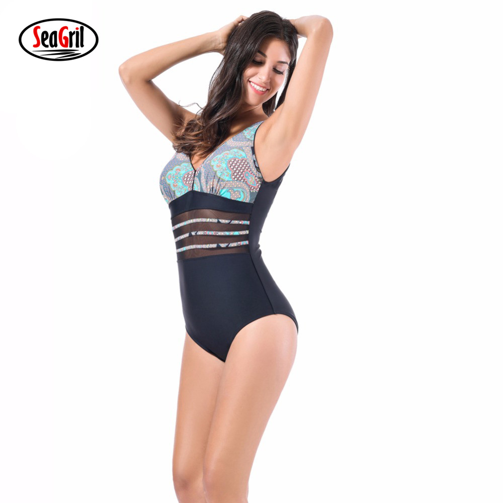 Sea Girl Plus Size Swimwear One Piece Swimsuit Women Female Bathing Suit One Piece Swimming Suit deformation of sea monster toy group underwater slasher 6 in 1 changed one piece suit educational toys
