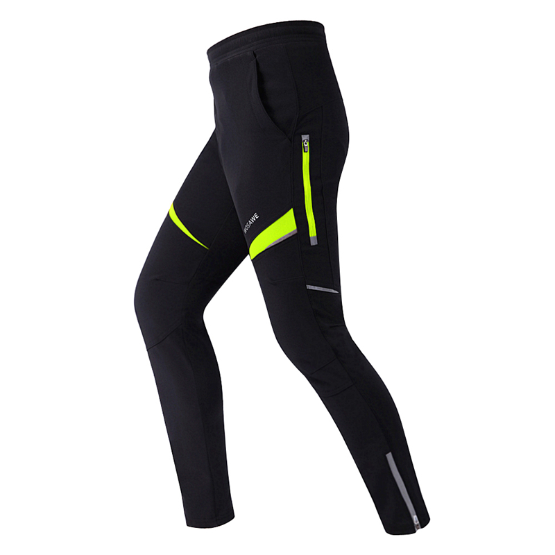 WOSAWE Men Thermal Bicycle Bike Racing Cycling Pants Windproof Pants Winter Wind Tights Cycling Clothes цены