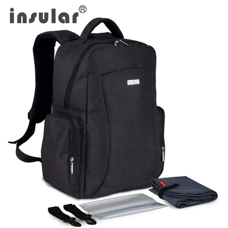 Nový styl Mommy taška Multifunkční velkokapacitní dětská plenková taška Dámská batoh taška Nappy Bag včetně plastové ubrousky