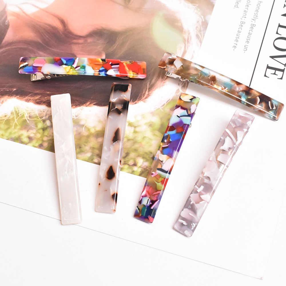 Accesorios para el cabello con Clip de pelo de acetato de resina Vintage de moda 2019