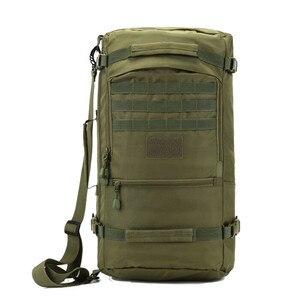 Image 2 - Men Travel Backpack 50L Laptop Backpack Large Capacity Teenager Male Mochila Waterproof Nylon Military Rucksack