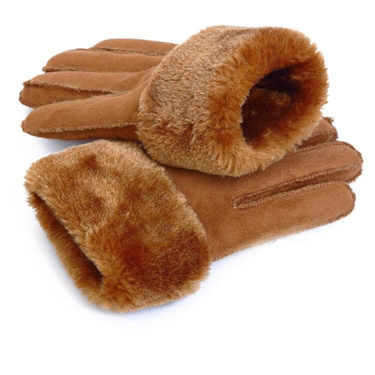 Skiing gloves women men cotton wool gloves warm white plush bow glove mittens Wind ski gloves