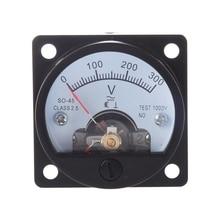 AC 0-300V Round Analog Dial Panel Meter Voltmeter Gauge Black цены