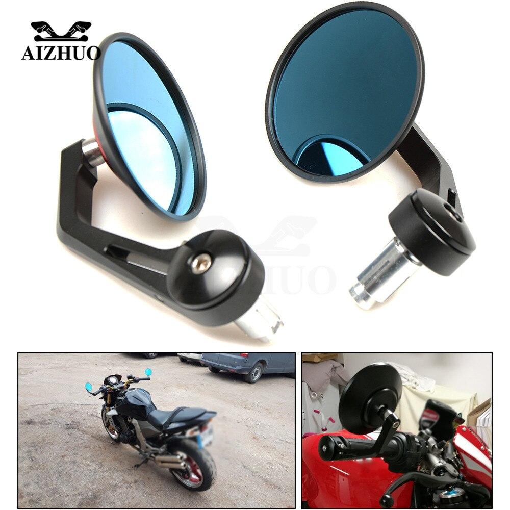 CNC Universel 10mm//8mm Rétroviseur Mirroir Pour Moto Scooter Quad Honda Yamaha