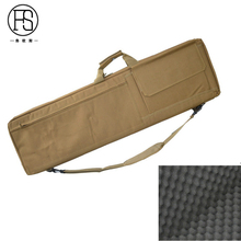 85cm / 100cm Nylon Tactical Gun Bag Heavy Duty Rifle Case Hunting Carry Shoulder With Cushion Black Tan Color