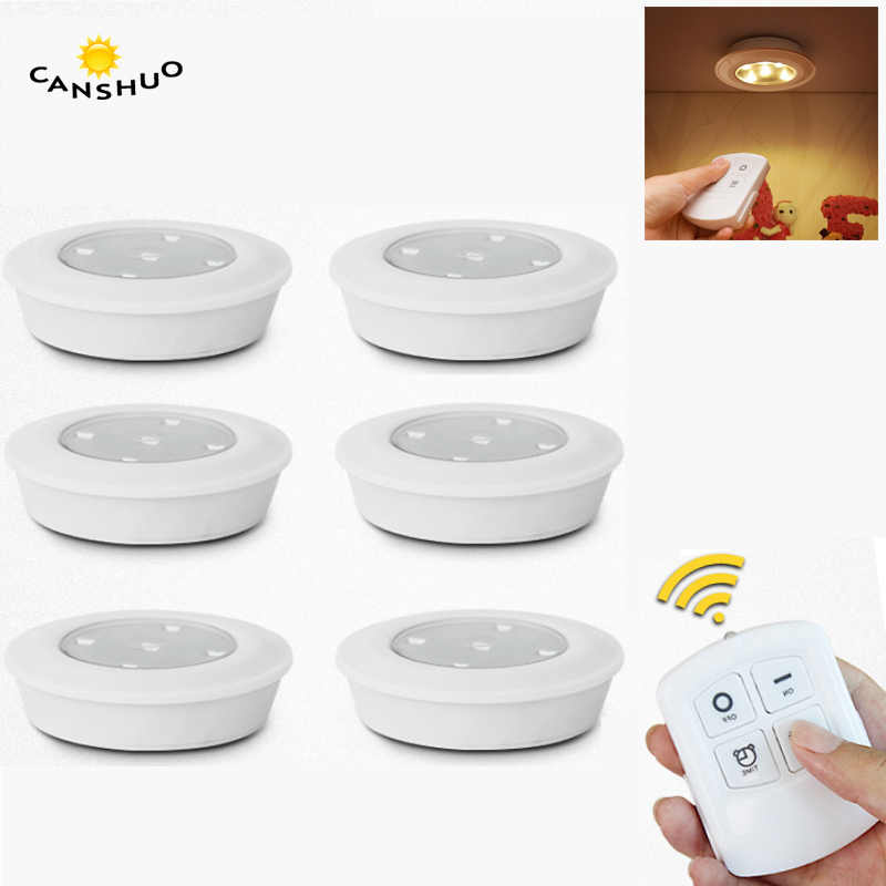 Dimmable LED Under Cabinet Light with Remote Control Battery Operated LED Closets Light night lamp for bedroom Wardrobe lighting